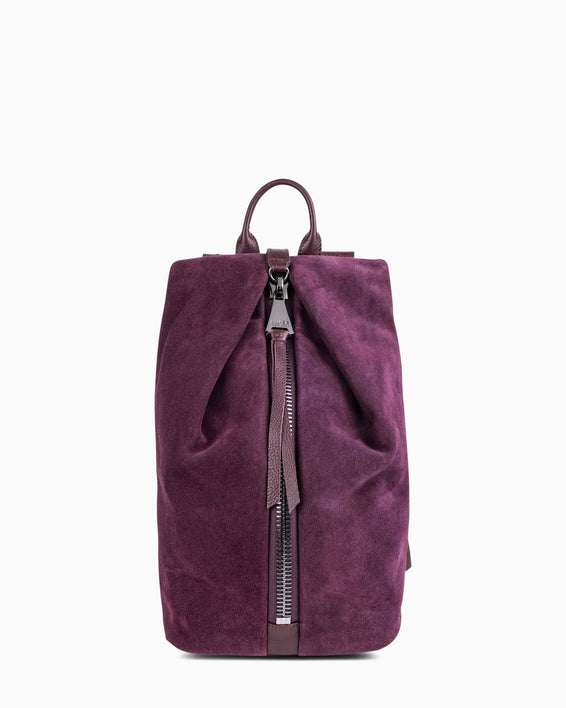 Tamitha Mini Backpck - Vino Suede front