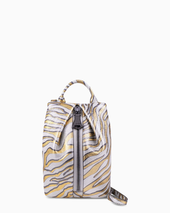 Tamitha Mini Crossbody - Metallic zebra front