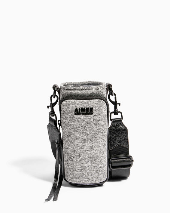 On Top Of The World Water Bottle Crossbody Heather Grey - front