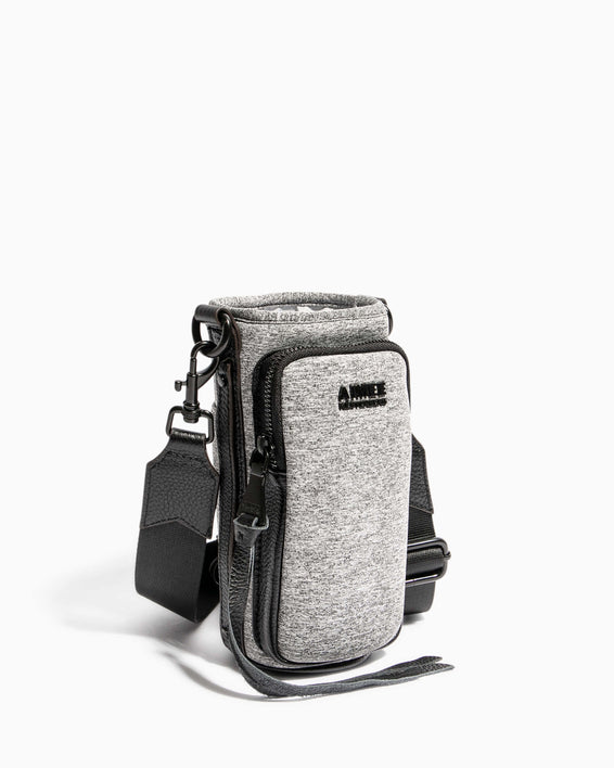 On Top Of The World Water Bottle Crossbody Heather Grey - side angle