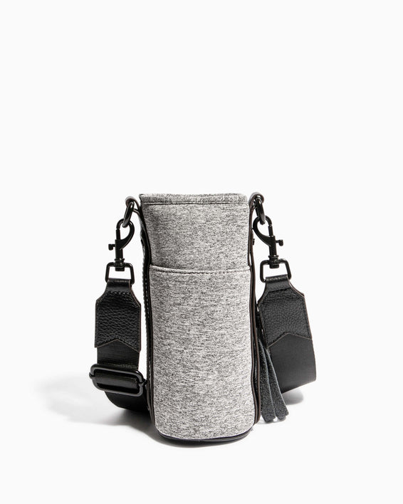 On Top Of The World Water Bottle Crossbody Heather Grey - back