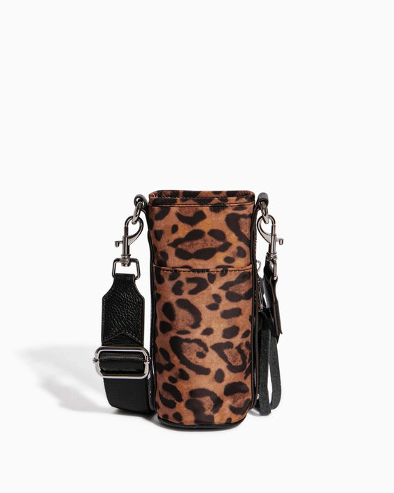 On Top Of The World Water Bottle Crossbody Jungle Leopard - back