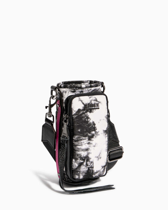 On Top Of The World Water Bottle Crossbody Vanilla Tie Dye - side angle
