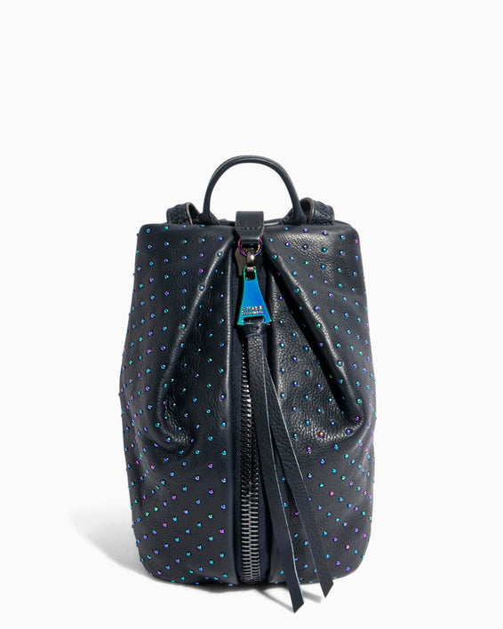Tamitha Mini Backpack Deep Indigo Studded - front