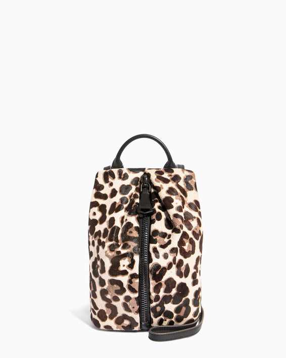 Tamitha Mini Crossbody Snow Leopard Haircalf - front