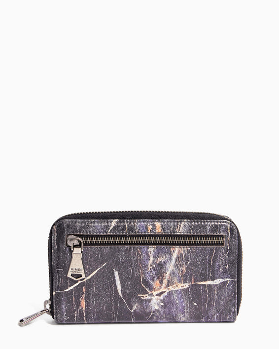 Zip It Up Continental Wallet Midnight Marble - front