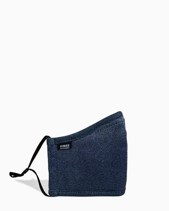 Face Mask - side view - denim