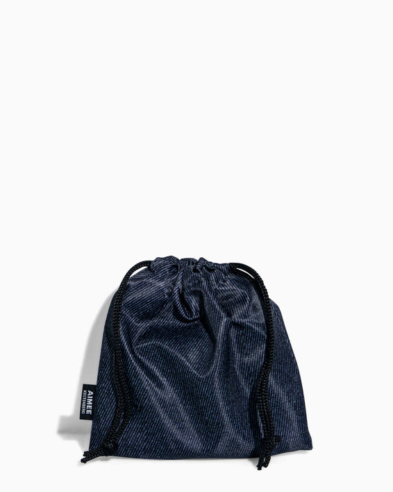 Face Mask - carrying pouch - denim