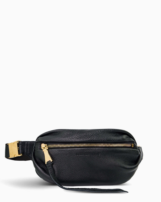 Aimee Kestenberg | Milan Bum Bag Black With Gold Hardware - front