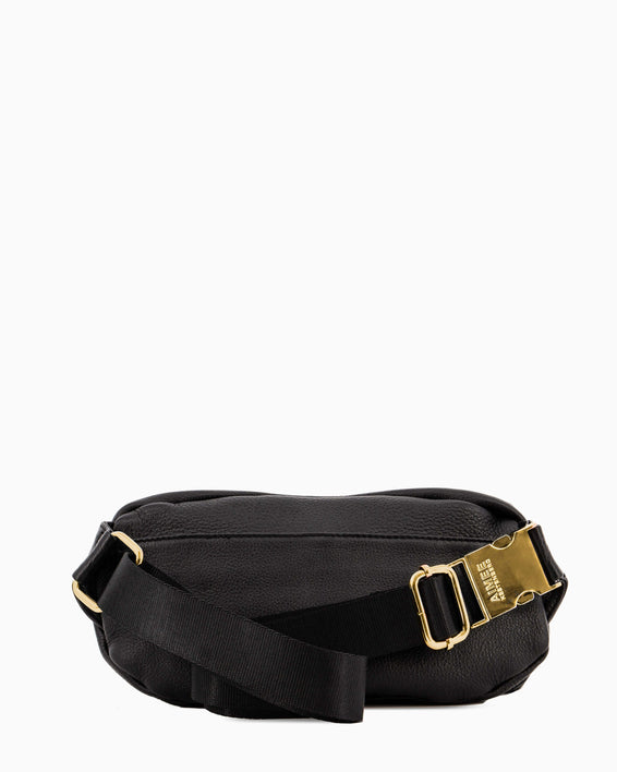 Aimee Kestenberg | Milan Bum Bag Black With Gold Hardware - back
