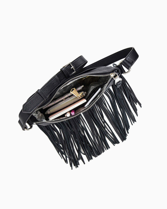 Beach Babe Fringe Crossbody - interior functionality