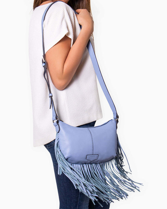 Beach Babe Fringe Crossbody - on model