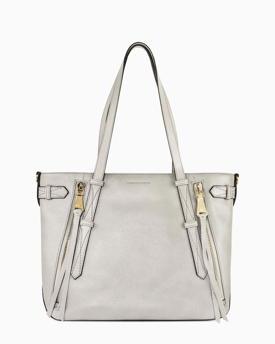 City Slicker Tote - elephant grey front