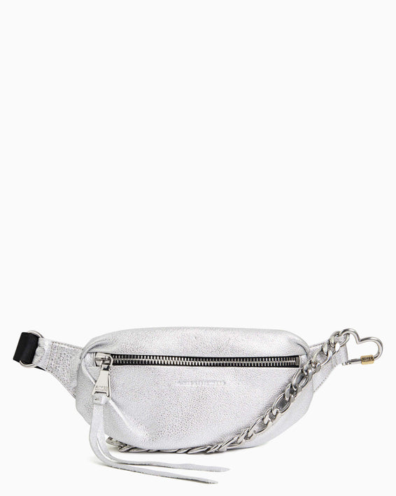 Heart Chain Bum Bag - silver front