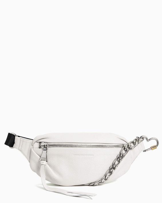 Heart Chain Bum Bag - vanilla front
