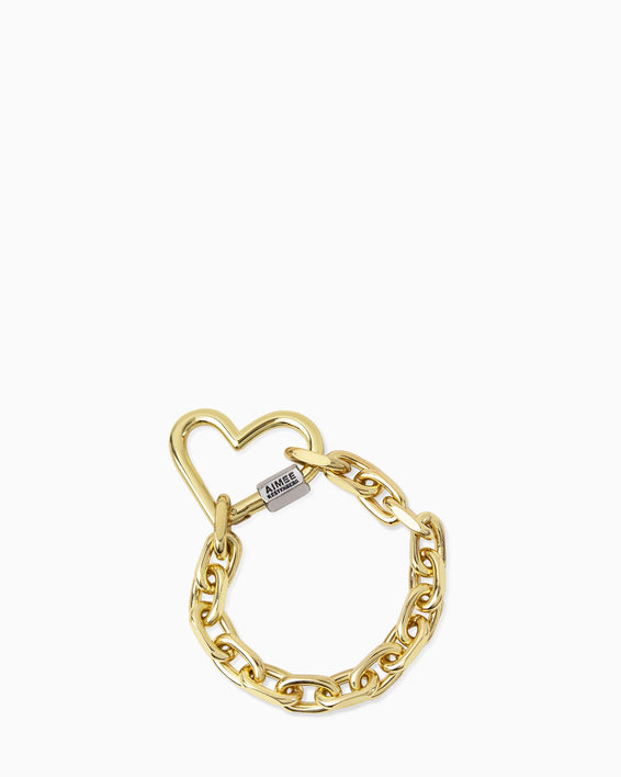 It's A Love Thing Bracelet - gold front