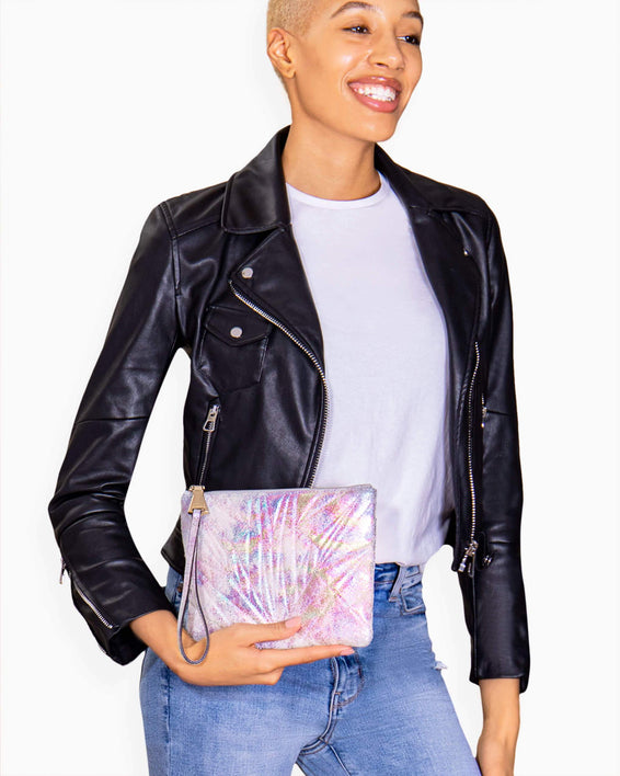 It's A Love Thing Clutch - on model
