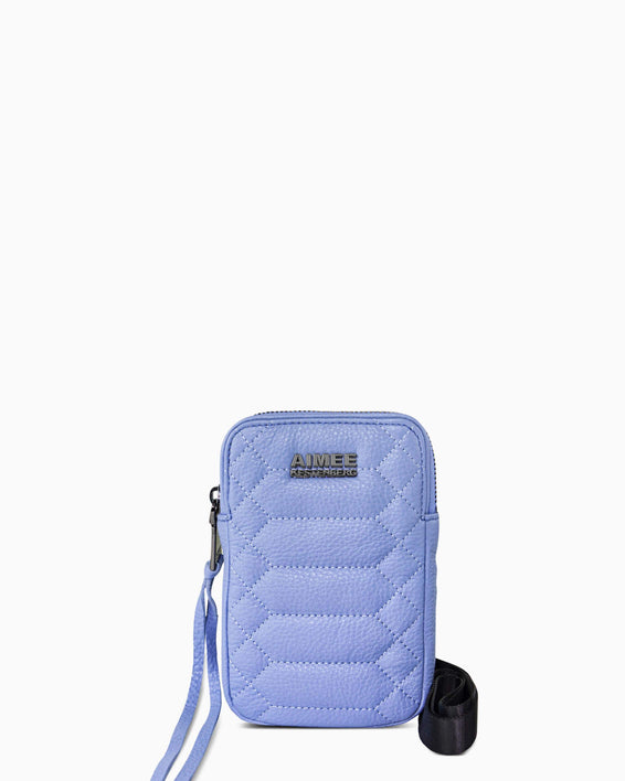 Just Saying Crossbody - periwinkle front