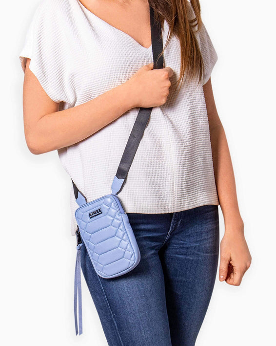 Just Saying Crossbody - on model