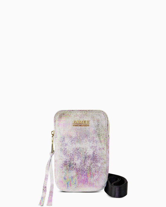Just Saying Crossbody - sunrise metallic front