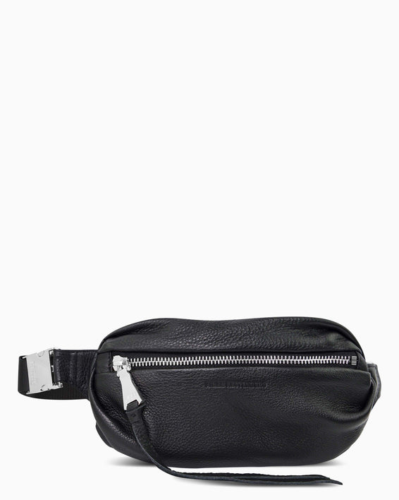 Milan Bum Bag - black with silver front