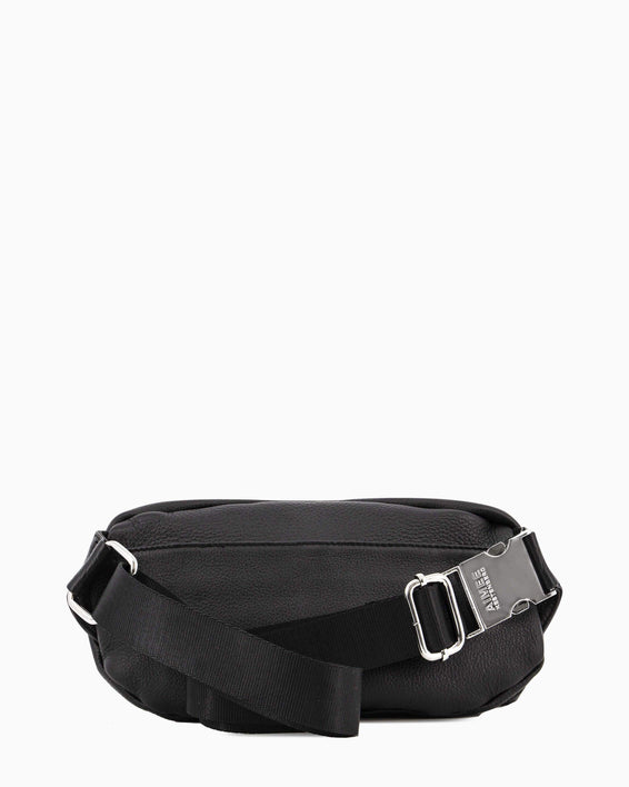 Milan Bum Bag - black with silver back