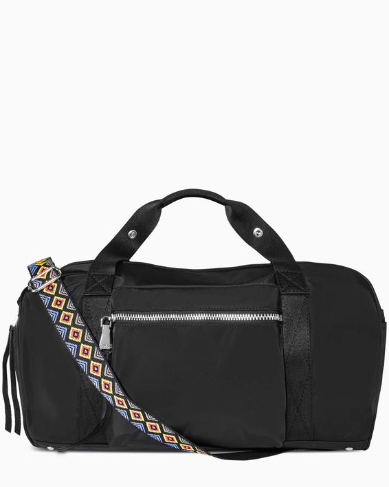 On The Go Large Duffle - black nylon front