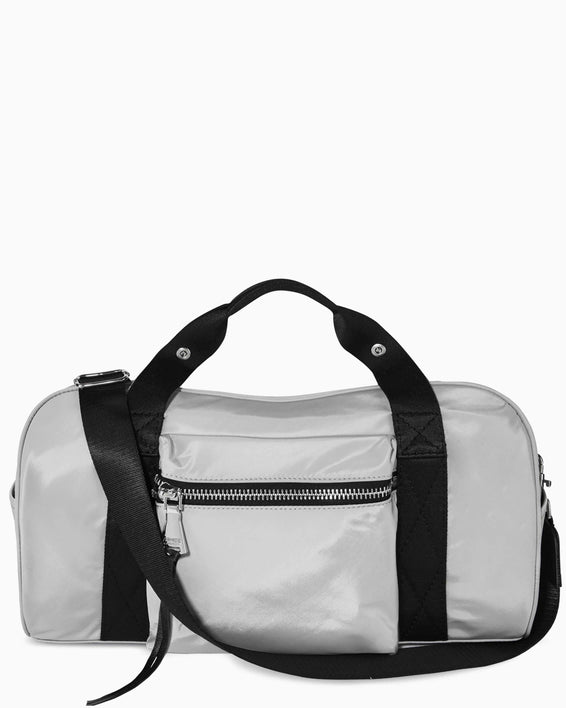 On The Go Large Duffle - grey nylon front