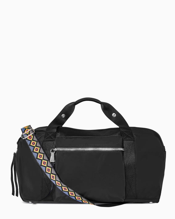 On The Go Medium Duffle - black nylon front
