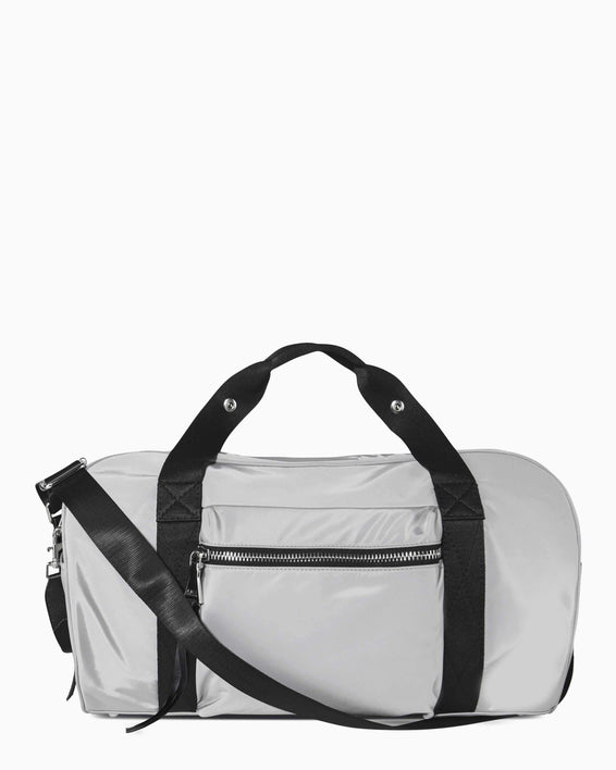 On The Go Medium Duffle - grey nylon front