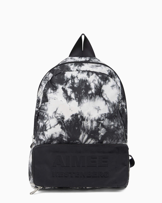Packable Backpack - vanilla tie dye nylon front