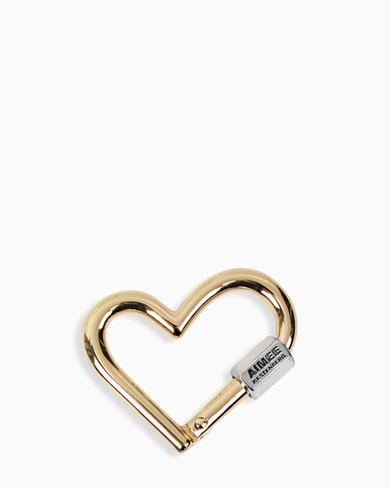 It's A Love Thing Heart Key Fob - gold