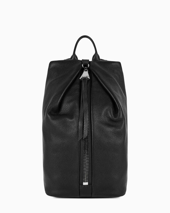 Tamitha Backpack - black with silver hardware front