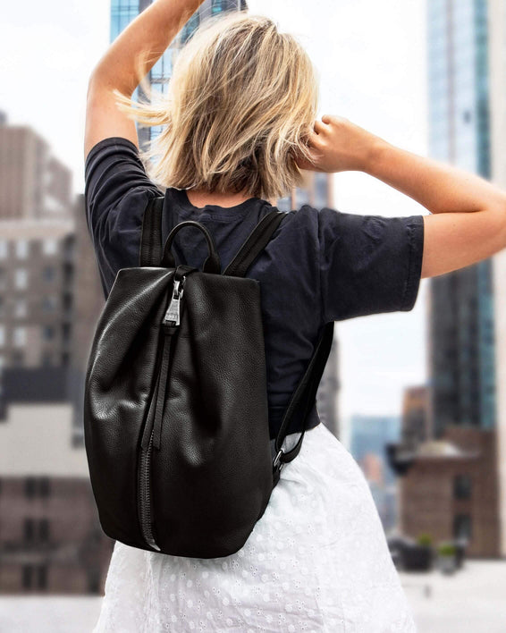 Tamitha Backpack - Black silver on model