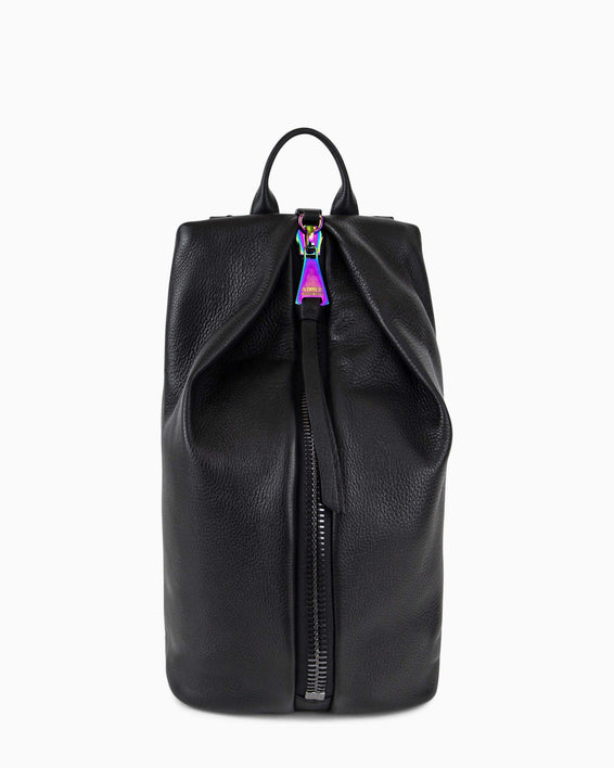 Tamitha Backpack - black with iridescent hardware front
