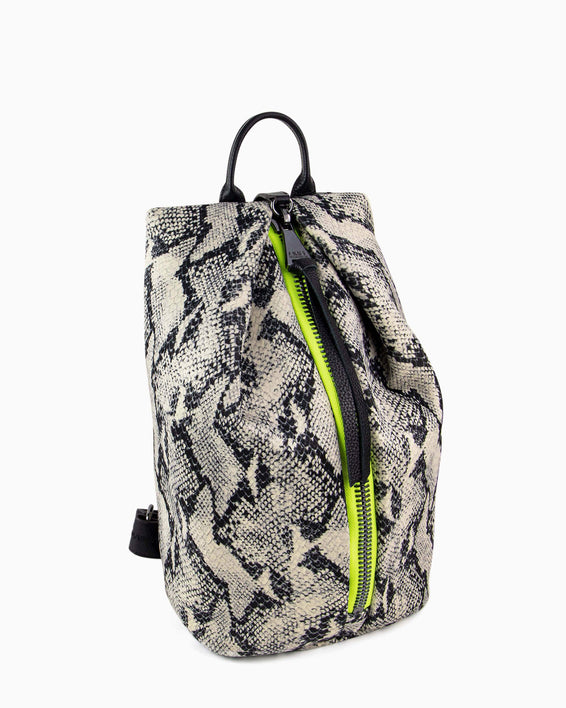Tamitha Backpack - vanilla snake neoprene side angle