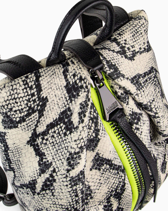 Tamitha Backpack - vanilla snake neoprene detail