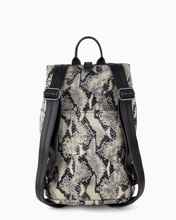 Tamitha Backpack - vanilla snake neoprene back