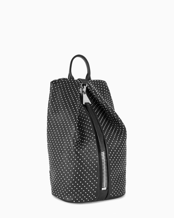 Tamitha Mini Backpack - black studded side angle