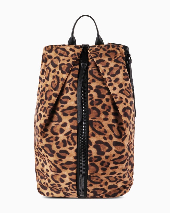 Tamitha Tech Backpack - cheetah print nylon front