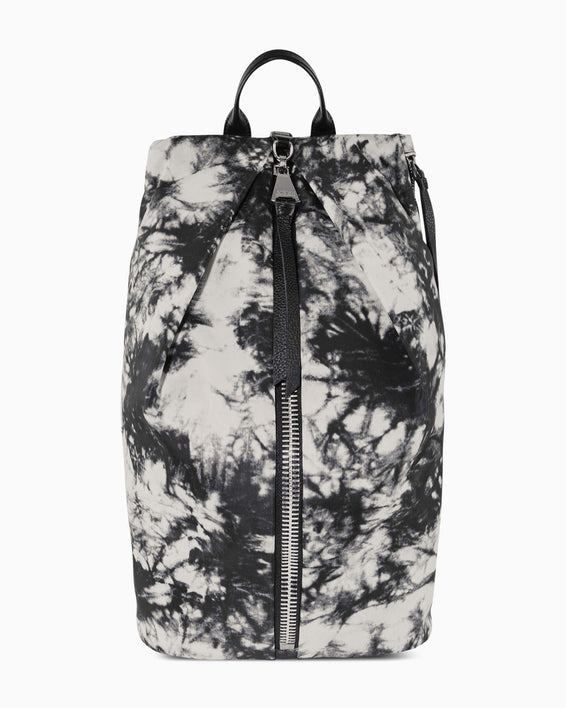 Tamitha Tech Backpack - vanilla tie dye nylon front