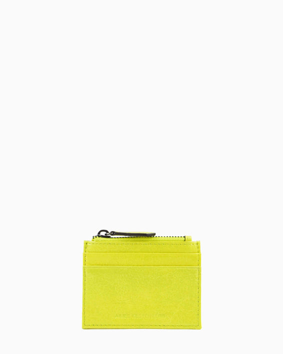 Zip It Up Card Case - citrine front