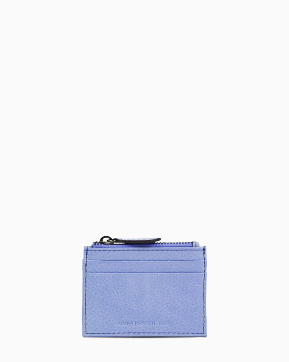 Zip It Up Card Case - periwinkle front
