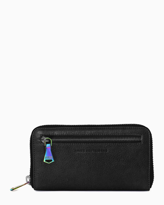 Zip It Up Continental Wallet - front black