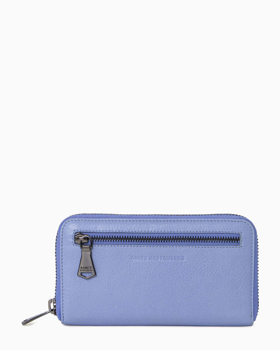 Zip It Up Continental Wallet - front periwinkle