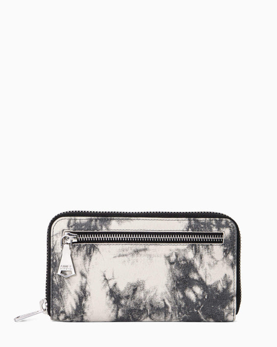 Zip It Up Continental Wallet - front vanilla tie dye