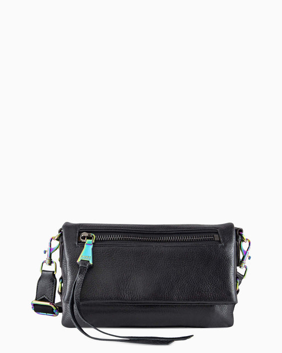 Zip Me Up Crossbody - black front