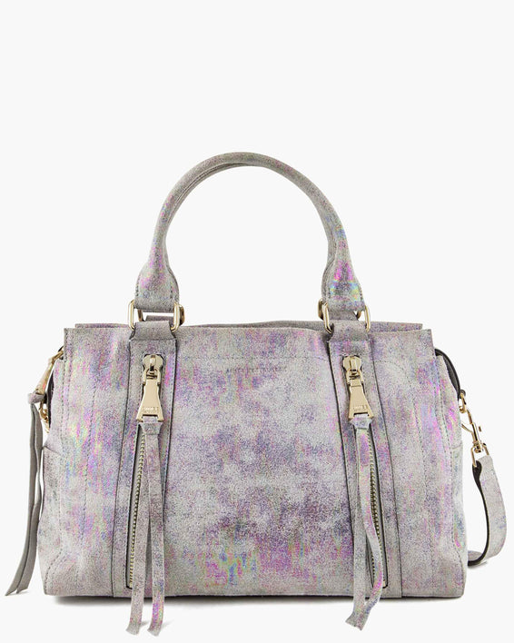 Zip Me Up Satchel - sunrise metallic front