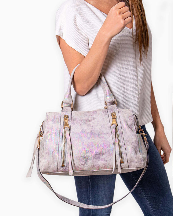 Zip Me Up Satchel - on model