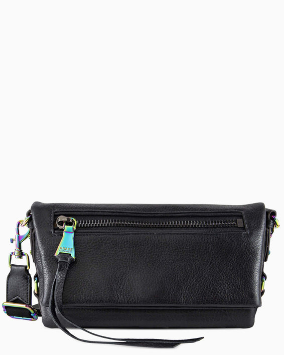 Zip Me Up Shoulder Bag - black front